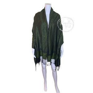 Gorgeous Green and Black Pashmina Blanket Scarf